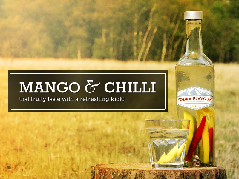 Vodka flavours mango chilli