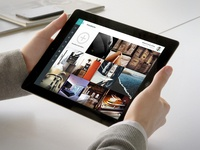Tablet CMS: Photoalbum preview