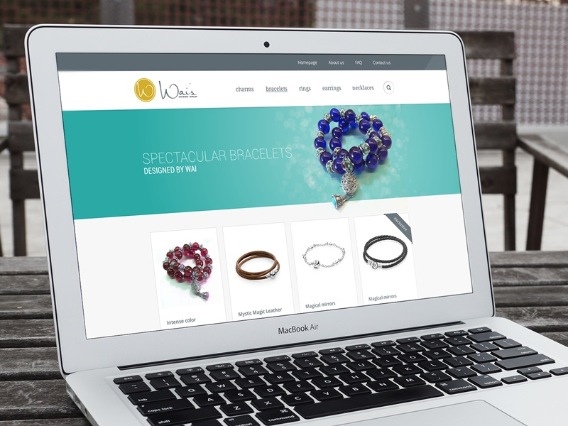 Handmade Jewelry Shop website site webdesign jewelry handmade turqoise bracelet exclusive
