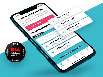 Timing uitzendbureau: rebranding mobile branding minimal design app