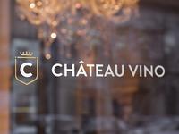Chateau Vino logo - Window mockup