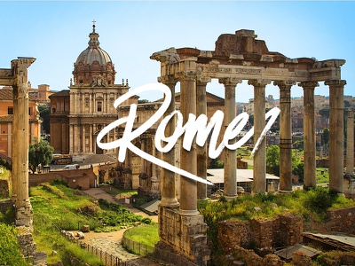 Rome italy forum romana rome photography cities city type typography