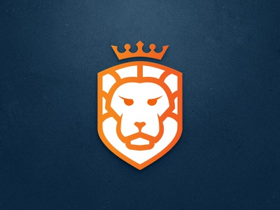 Lion mark logo lion king identity icon design branding animal