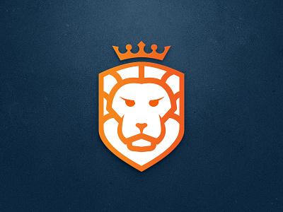 Lion mark logo lion king identity icon design branding animal