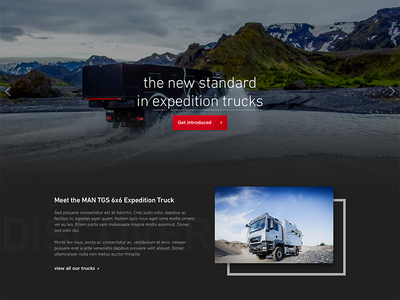 Expedition Trucks website page home homepage dark trucks ux ui website site web design web