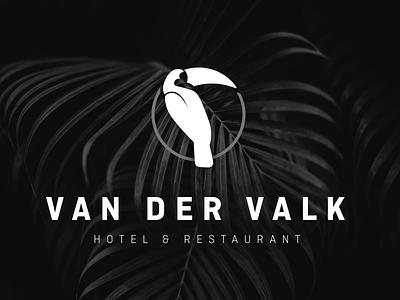 Van der Valk - unofficial logo redesign hotelchain restaurant hotel type bird logo toucan