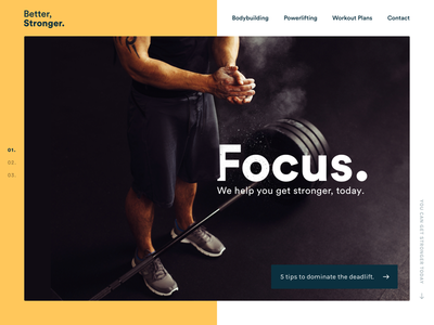 Personal Trainer homepage website deadlift personal trainer type half yellow trainer fitness homepage
