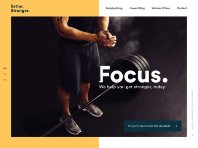 Personal Trainer homepage