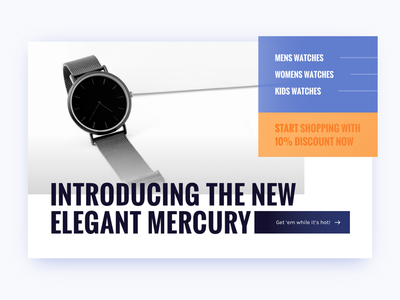 Watch Company website type blue orange watch homepage
