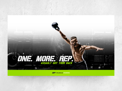 One. More. Rep. website green fitness product productpage landingpage