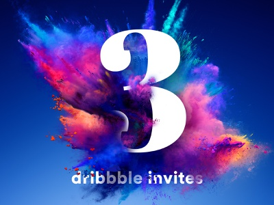 I've got 3 dribbble invites! powder smoke explosion get drafted invitations dribbble invites dribbble invitation dribbble dribbble invite invitation invite draft