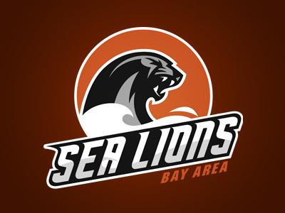 Bay Area Sea Lions logo design graphic sea lions a11fl bayarea