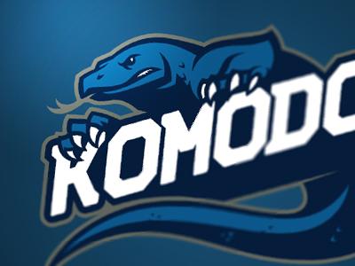 Komodo logo design graphic komodo dragon logo sport