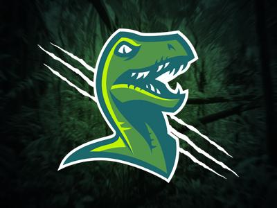 Raptor logo sports raptor dinosaur team