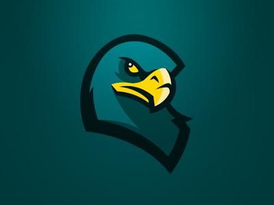 Griffin head logo sports griffin head team
