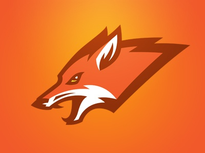 Fox logo sports fox orange team