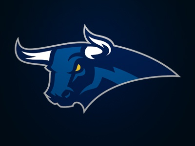 Bull logo sports bull team taureau