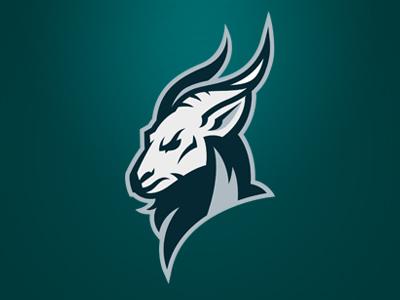 Goat logo sports team goat bouc