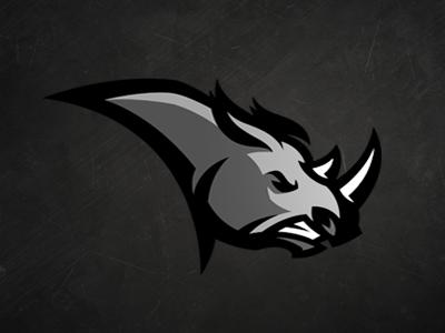 Rhino logo sports team rhino rhinoceros rhinocéros