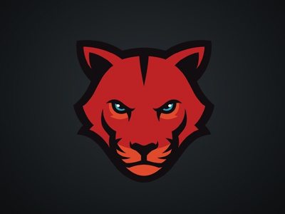 Big Cat logo sports team big cat félin