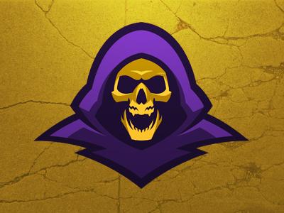 Skeletor skeletor master universe masteroftheuniverse logo design logodesign purple gold skull he-man graphic