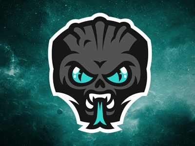 Alien logo logodesign alien invaders graphic logosport sport galaxy