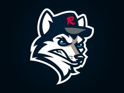 HUSKIES de Rouen sport logo sport logo design logo france baseball rouen huskies
