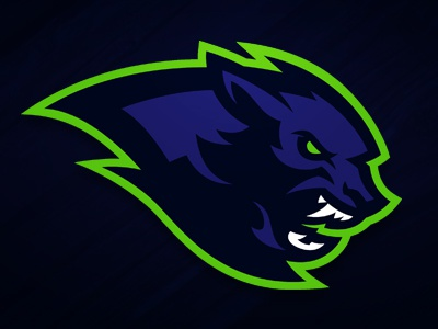Lycans werewolf loup-garou les mureaux france football américain american football football sportlogo sport logodesign logo lycans