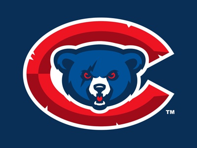 French Cubs brand team france ourson ours bear sports logo identity baseball cubs french cubs