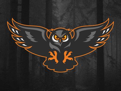 Owl logo design sports logo logo grand duc hibou attack bird owl