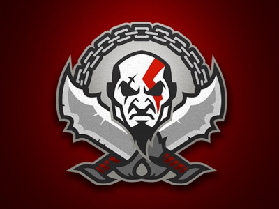 GOD OF WAR logo design graphic godofwar kratos spartan