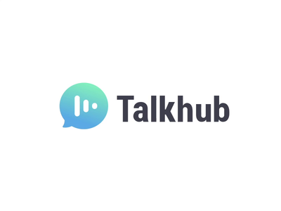 Talkhub Logo Design animation logo design app icon illustration branding