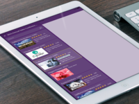 Tablet app for corporate event planner