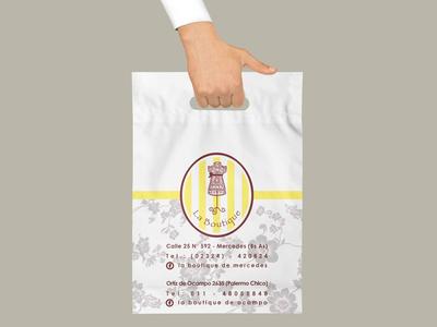 Diseño de bolsas de compra para La Boutique