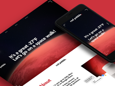 Red Pebble Website microsite web website product design vui ux app weather mars website design web design branding