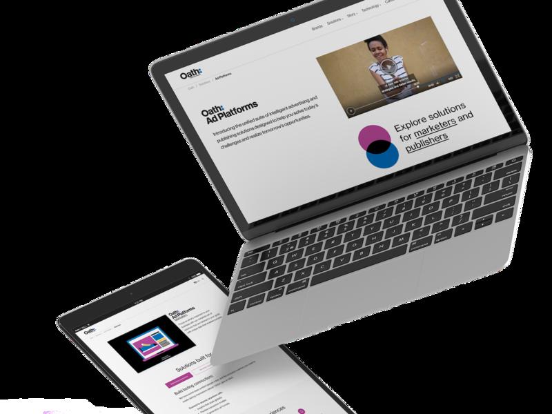 Ad Platforms visual design responsive branding responsive layout
