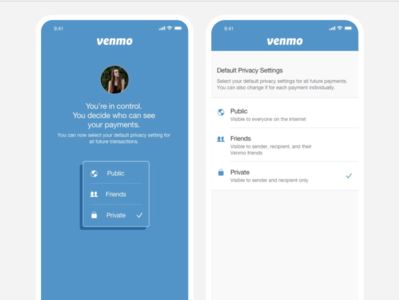 Venmo On-boarding Privacy Settings (Design Exercise)