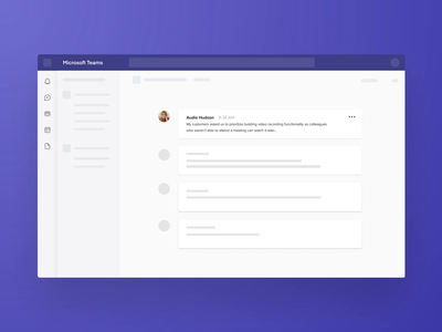 Combining the powers of Teams and Productboard ui ux interations animation motion product managment product design feedback conversation message integration microsoft teams