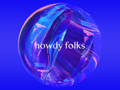 Howdy Folks! debut photoshop marble space holographic