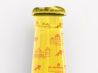Bhutan Pattern Bottle Packaging