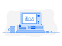 Error 404 Animated Illustration