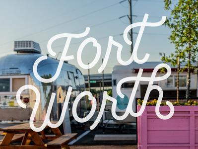 Fort Worth local monolinelogo typography popart pink art brushlettering handlettering fortworth casualscript monoline script monolinelettering monolinescript lettering