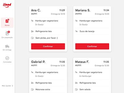 Order Manager: Redesign Concept darkmode tablet app ux design ui