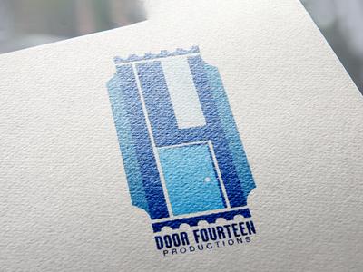 Door Fourteen Productions logo branding mark brand identity brand graphic artist artist art graphic designer graphic design graphics graphic logo design logo