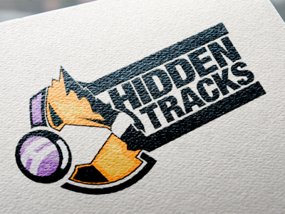 Hidden Tracks logo art typography graphic design graphic brand identity symbol branding brand design icon illustration logo logo design
