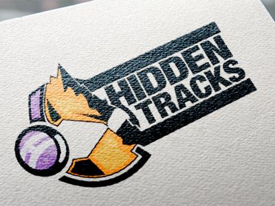 Hidden Tracks logo art typography graphic design graphic brand identity symbol branding brand design icon illustration logo logo design