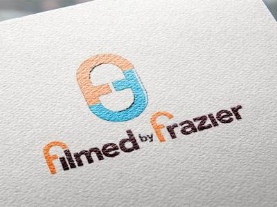 Filmed by Frazier logo graphic art graphic design graphic typography illustration brad identity branding logo design. brand logo