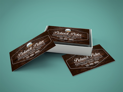 Pickwick Pickers Business Card product design product print design print design graphic design graphic brand identity branding brand business card