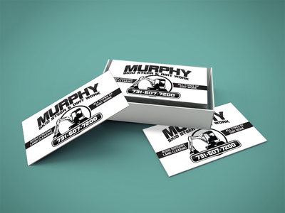 Murphy Skid Steer Business Card production design production product print design print designs graphic designer brand design graphic design graphic brand identity branding business card