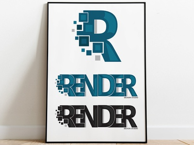 Render Logo graphics typography graphic art symbol icon design vector illustration illustrator branding brand identity logo design graphic design logo